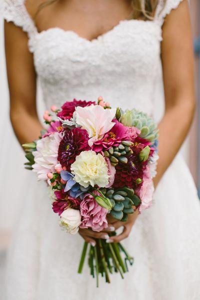Wedding bouquet succulents and vibrant colours http://cavanaghphotography.com.au