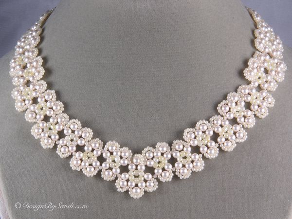 81 best Pearl necklace pattern images on Pinterest   Pearl ...