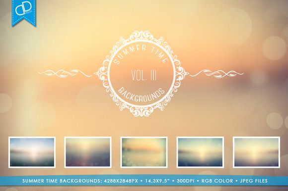 Summer Time Backgrounds Vol III. by cDDesign on Creative Market