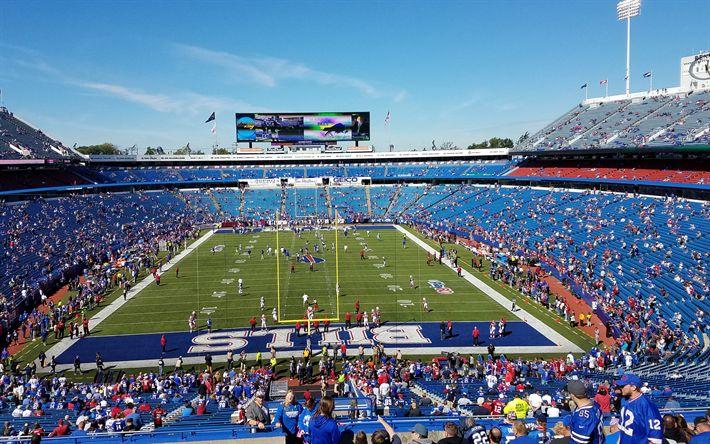 Download wallpapers New Era Field, Buffalo Bills, football stadium, American football, NFL, 4k, National Football League, sports arena, USA, Buffalo