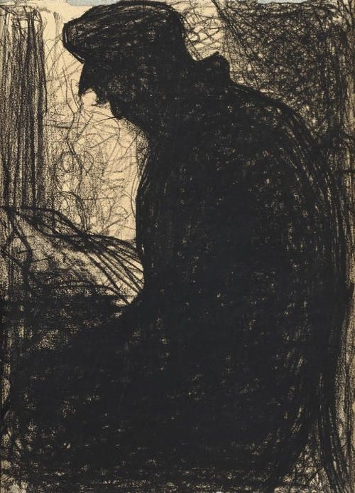 Georges Seurat Drawings | Georges Seurat (French, 1859-1891), Le Liseur, c. 1881. ...