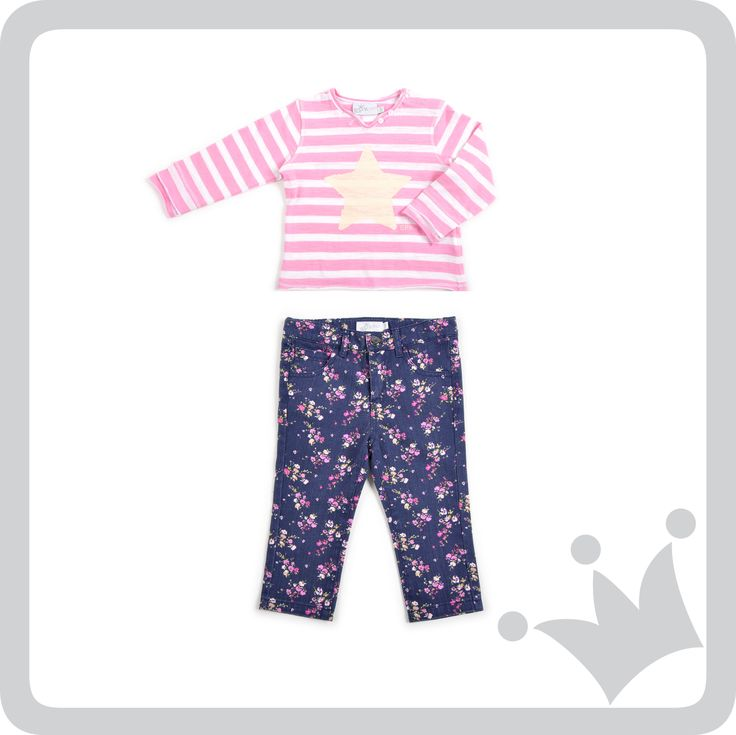 En esta temporada de primavera 2014 recomendamos colores y más colores. Este look seguro le quedara hermoso a las bebés de la familia.