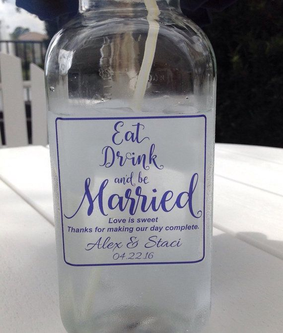 Personalized wedding clear vinyl labels 3x3 by eventgaldecals