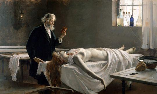 La autopsia  [1890] - Enrique Simonet