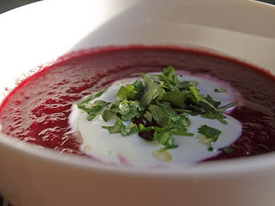 Beetroot Soup with Black Cumin from the Moro Cookbook