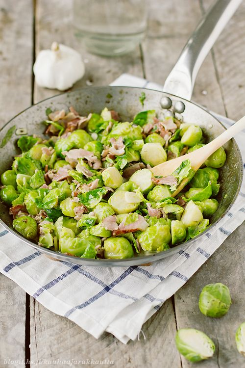 Brussels sprout with bacon