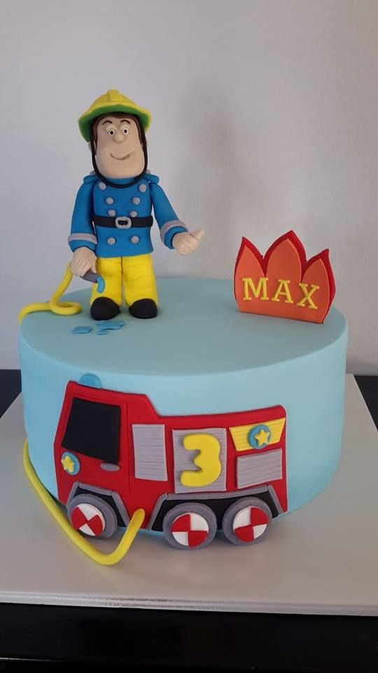 Fireman Sam (& Jupiter) Cake - Homemade By Hollie