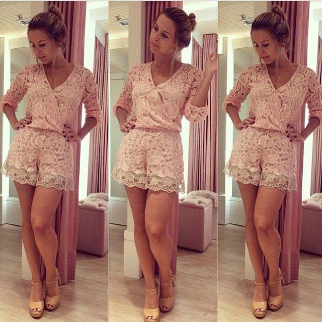 2015 verão roupas femininas elegante roupas senhoras moda rendas sem mangas de Fitness feminino macacão