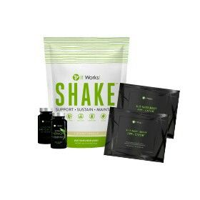 ncludes:  2 single pouches Ultimate Body Applicator™ (2 Applications)1 bag It Works! Shake™ - Creamy Vanilla (26.7 oz. / 756 g)1 bottle Ultimate ThermoFit™ (60 Tablets)1 bottle Advanced Formula Fat Fighter™ (60 Tablets)  ADD TO CART  If your goal is to burn calories, fight fat, and build muscle as you tighten, tone, and firm, then this is THE Pack for you. The Metabolic Burn Pack has been synergistically designed to support your weight loss goals!†