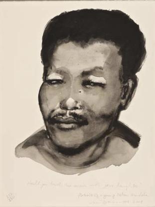 Marlene Dumas Portrait of a young Nelson Mandela (xxx/250) 2014-10 / SW / 56.000 ZAR 2013-02 / SW / 53.760 ZAR 2009-08 / SW / 39.200 ZAR