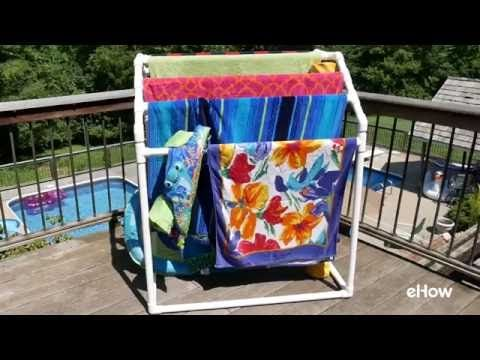 Every pool owner has towels -- *lots* of towels. And during the warmer months they seem to multiply. To solve the towel-drying problem once and for all, build this handy towel rack from ordinary PVC plumber's pipe. The rack can hold eight full-size beach towels, and, as a bonus, it corrals all the pool noodles and floaties. You can also watch a video tutorial