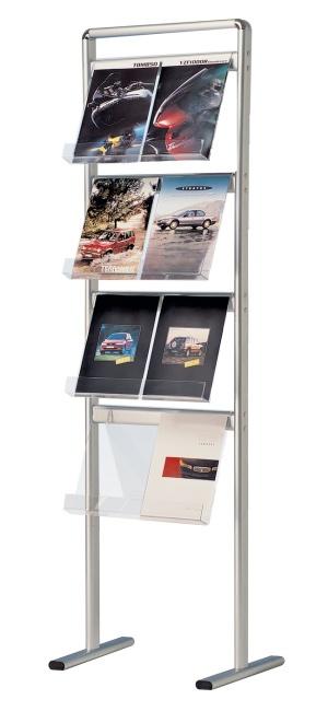Prestige floor standing semi permanent brochure holders