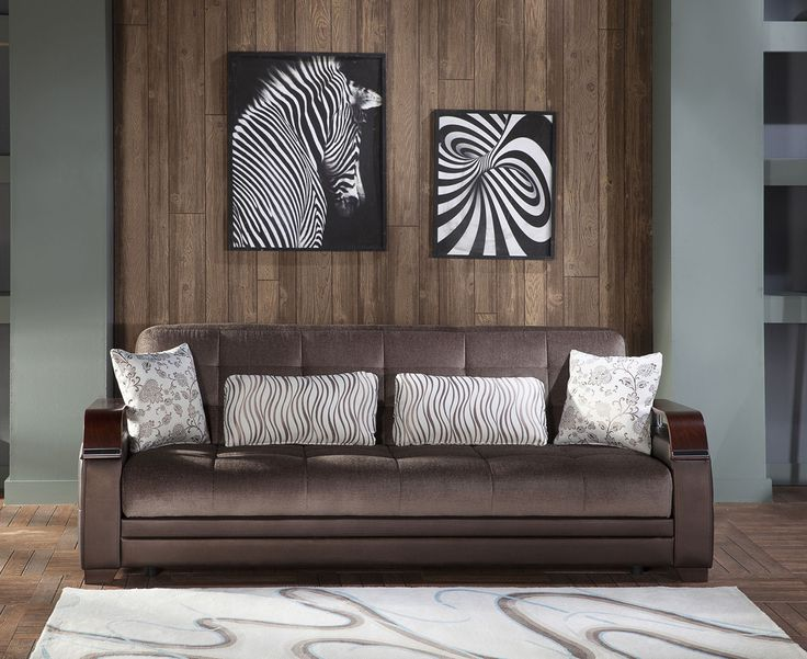Natural Sofa Bed In Prestige Brown By Istikbal