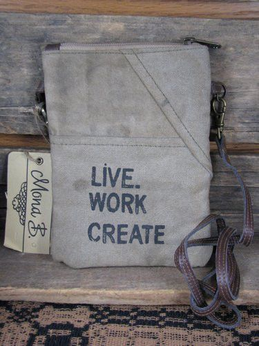 Live, Work, Create Shoulder Pouch
