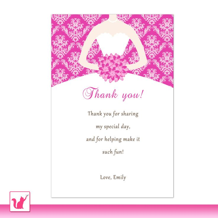 How to write a bridal shower thank you card