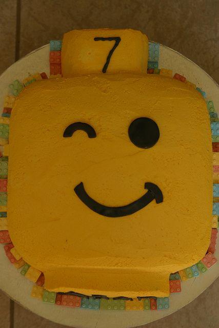 Lego Head Birthday Cake by Jacqueline Naerebout, via Flickr