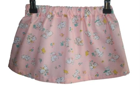 Girls Easter Skirt Pink with Bunnies and chicks Sizes 2 - 10   Annabelles Attic   madeit.com.au