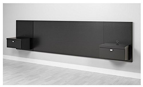 Valhalla Designer - King Platform Floating King Bed Headboard with Integrated Nightstands New Set King for big King Furniture in your Bedroom Suite nice Sale King and Cheap King Bed California style s   Jet.com