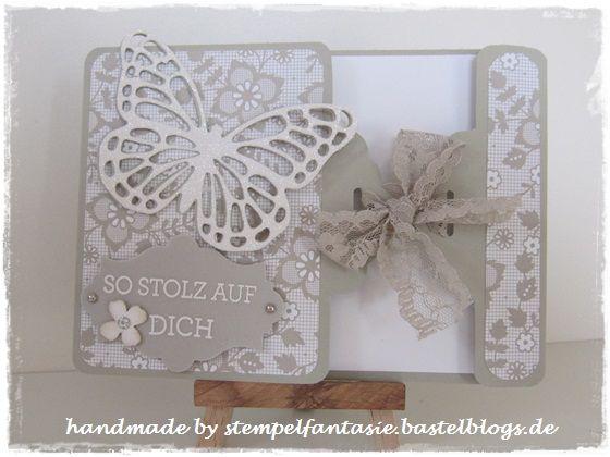 """Edel und filigran mit den Thinlits Stanzform """"Schmetterlinge"""" #stampinup #Schmetterling #Stanze #Stempel #Butterfly"""