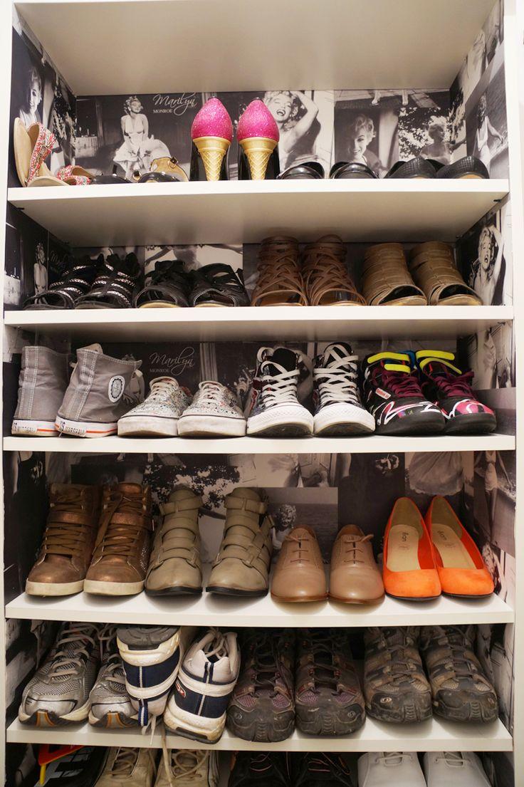 17 meilleures id es propos de rangement chaussures pas for Rangement chaussures diy