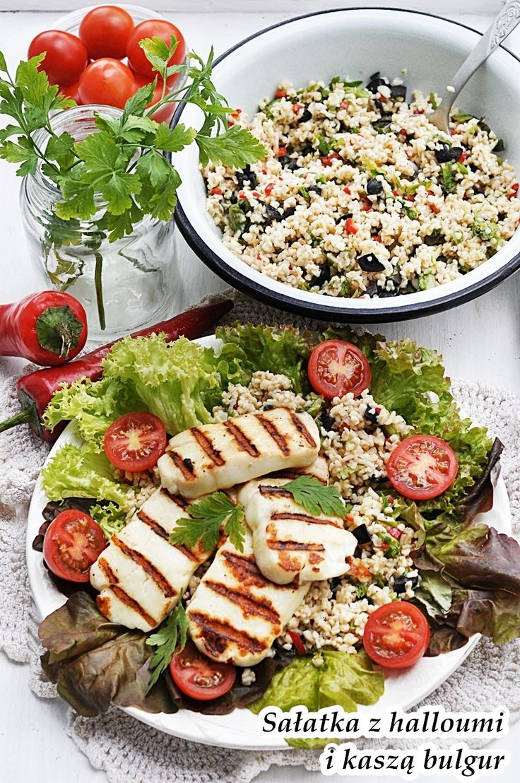 Bulgur salad &Halloumi
