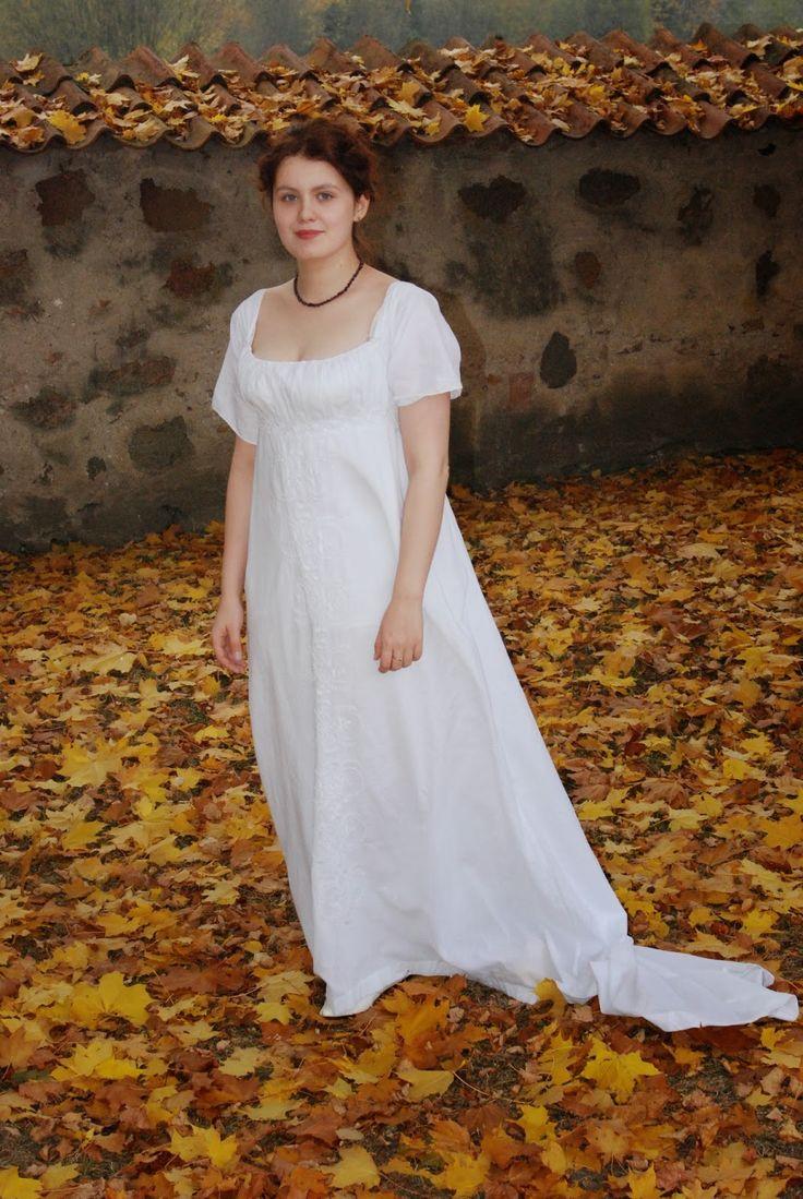 The House of Old Fashion: Haftowana suknia 1804 a la metropolitan / Embriodered dress 1804 a la metropolitan