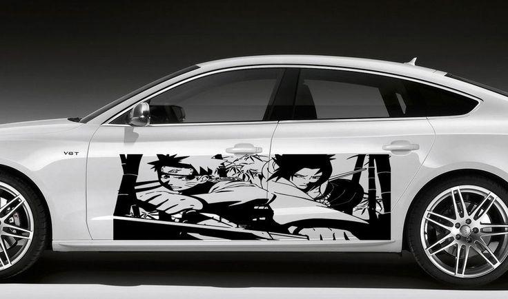 ANIME MANGA BOY WARRIOR NINJA SWORD JAPANESE CAR VINYL STICKER - Car anime stickers