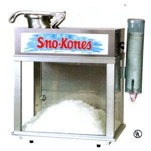 Snow Cone Machine. The Snow Cone Machine is a very popular special event or fun fair rental, especially on those hot summer days.  Syrup, cones and spoon straws are available.  Please inquire for pricing.