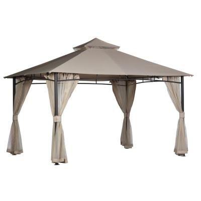 hampton bay santa maria 13 ft x 10 ft roof style canopy gazebo