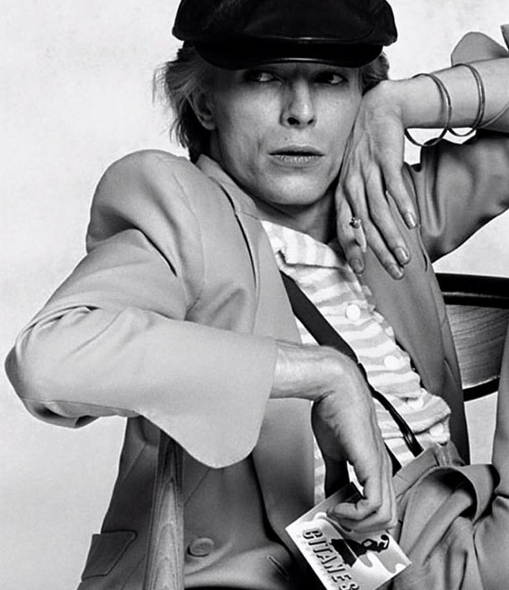 David Bowie Gitanes 1974 by Terry O'Neill