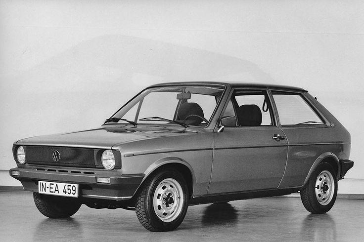 VW Polo - Stylingmodell für Facelift von 1976 mit voluminöserem Grill und aerodynamisch verfeinerten Stoßfängern aus Kunststoff. ☺