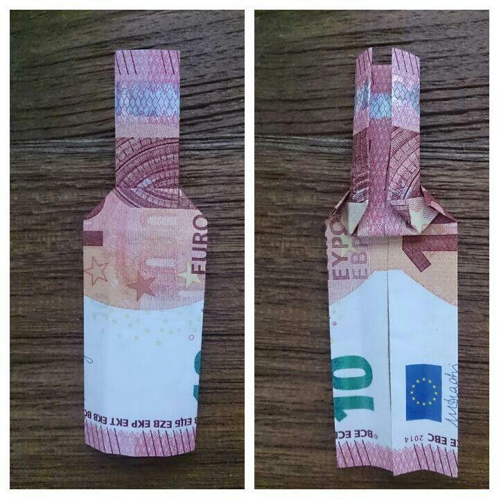 Eurogami fles geld cadeau