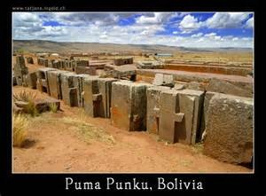 ∆ ...Puma Punku's ancient mystery unresolved due to lack of data. 300 ton stones placed 13,300 feet above sea level. Precision drill holes and perfect angles in solid granite.