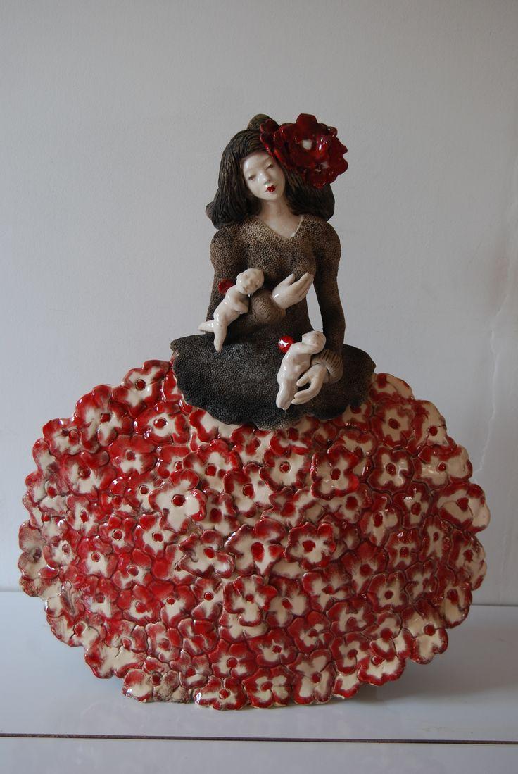 pauline wateau sculpture c ramique raku maman fleur pauline wateau pinterest sculpture. Black Bedroom Furniture Sets. Home Design Ideas