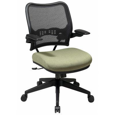 Office Star Space Mid-Back Mesh Desk Chair Upholstery: Nano-Texwith BioAm - Sojourn Alabaster
