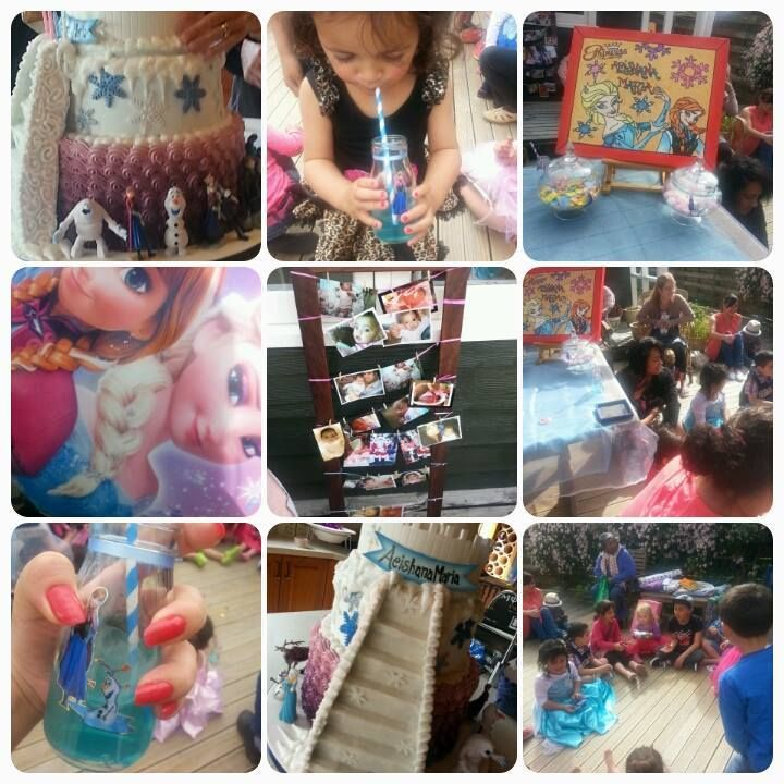 My girls frozen party pics