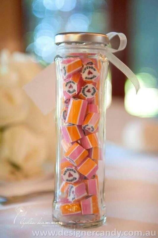 Shane & Morgan Designer candy personalised wedding bomboniere favors elegant cute small pretty modern