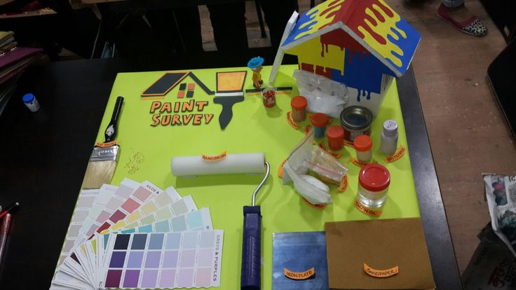 Project on display of paints by Ms. Komal Singh, 1st year Interior Designing Student of IWP Janakpuri