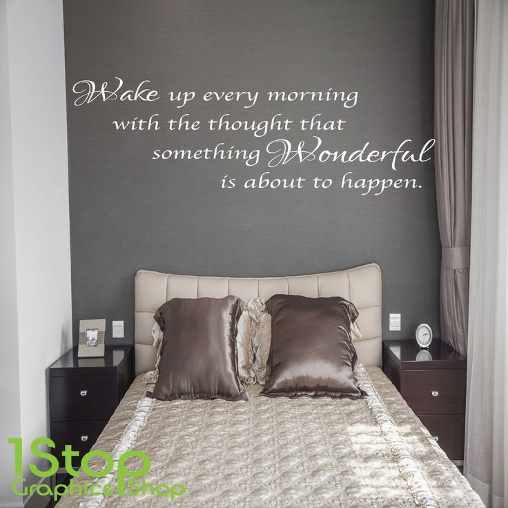 Wake Up Every Morning Wall Sticker Quote   Home Lounge Wall Art Decal X138
