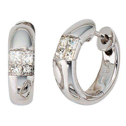 Dreambase Damen-Ohrschmuck Creole 8 Diamanten 14 Karat (5... https://www.amazon.de/dp/B0097RE3PA/?m=A37R2BYHN7XPNV