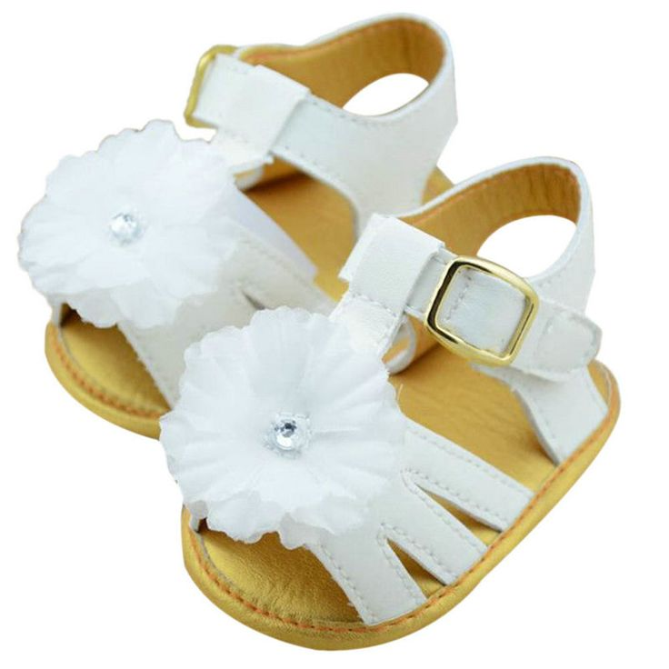 >> Click to Buy << 2017 Summerborn Baby Girls Sandal Baby Prewalker Shoes White Flower Infant Toddler Soft Soled Anti-slip Shoes For Toddler Girls #Affiliate