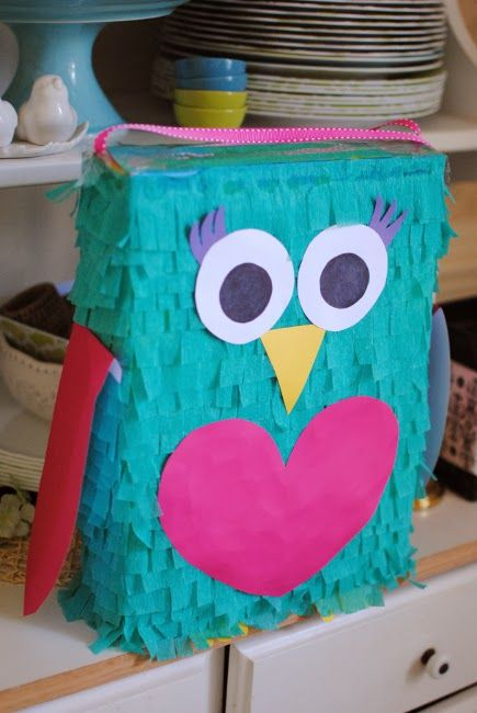 Owl Party Pinata  |  Feathers in Our Nest
