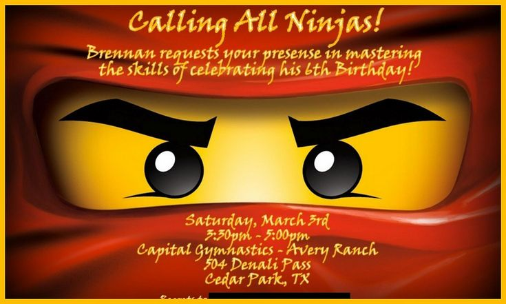 ninjago einladungen basteln  ninjago party ninja