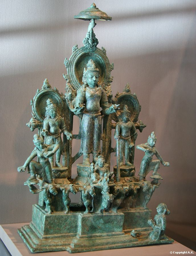Surya chariot, the Sun God from central Java 8th century.