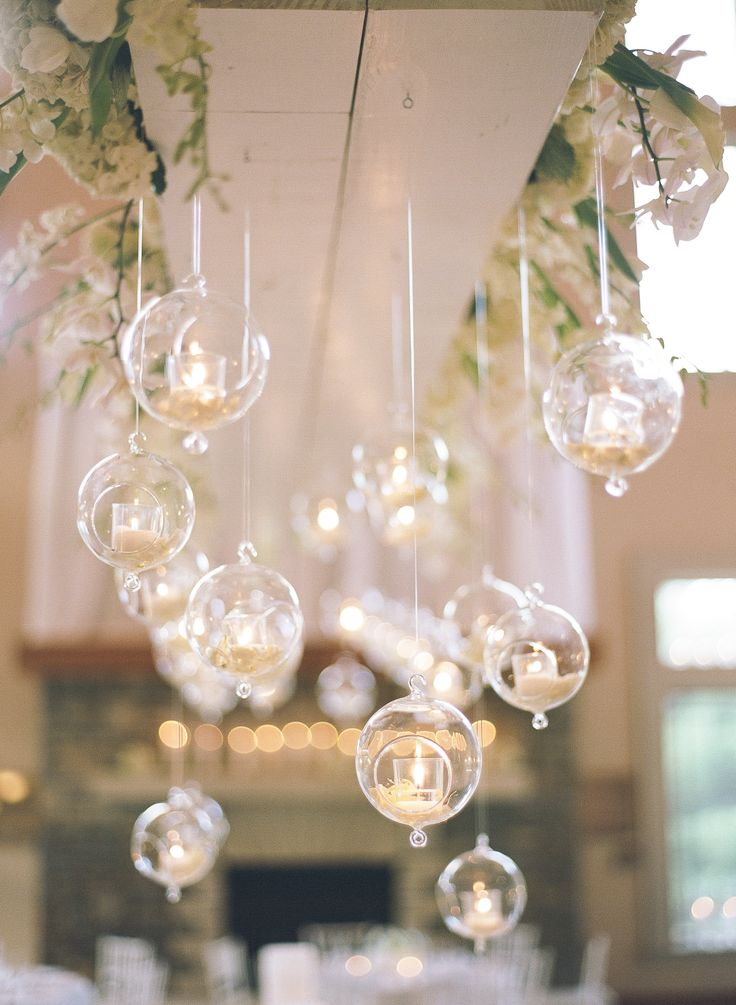 Lots and lots of Candles | Hanging Votives | Wedding Reception Decor | On SMP: http://www.stylemepretty.com/north-carolina-weddings/2013/11/27/north-carolina-arboretum-wedding-from-bamber-photography | Bamber Photography