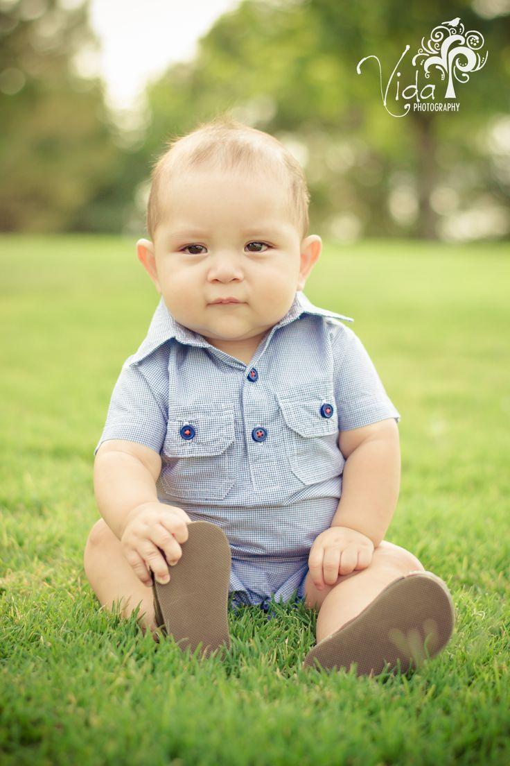 7 Month -Outdoor-Baby Photography...my son Lucas-by Rosanna Castillo