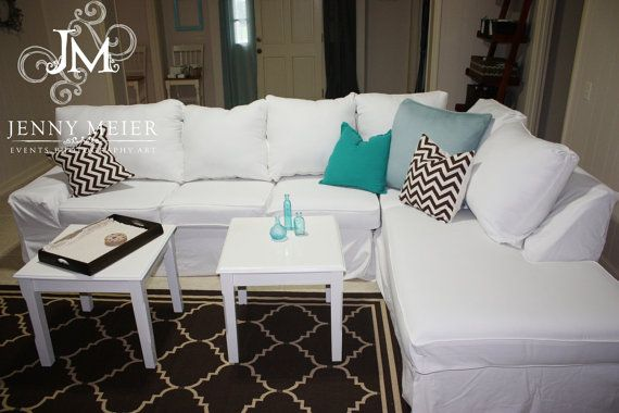 Sectional - 10 Cushions via Etsy | Fabric 8 Slipcovers Gallery | Pinterest | Custom slipcovers Room and House : sectional slip cover - Sectionals, Sofas & Couches