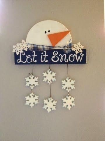 snowman wood craft Go Ahead & Craft