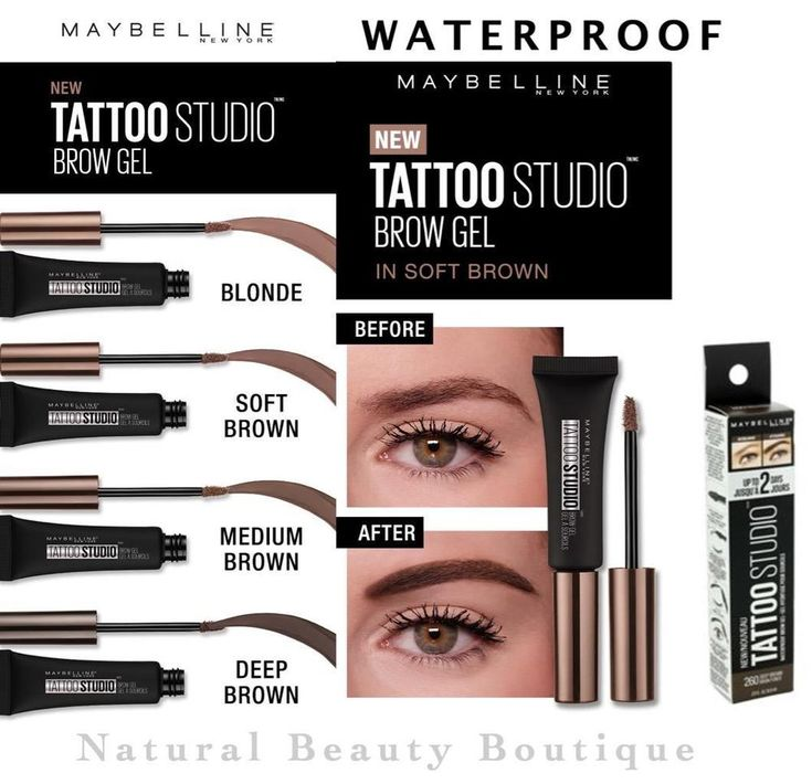 Details about maybelline tattoo studio brow tint