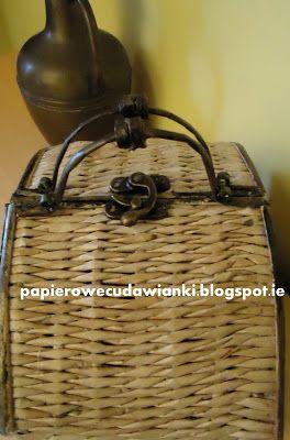 To co robię i co lubię: Kurs na kuferek z papierowej wikliny,niespodzianka od Dobrosławy i candy u Danusi